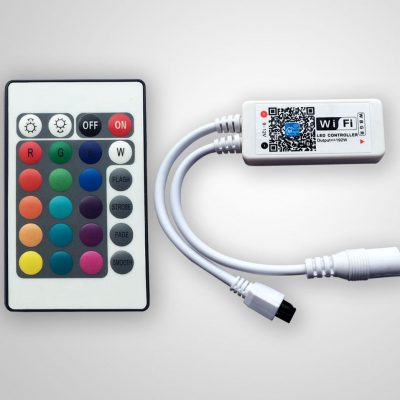 LED WIFI RGB / RGBW Controller with 24key remote IOS/Android Mobile Phone wireless for RGB / RGBW LED Strip
